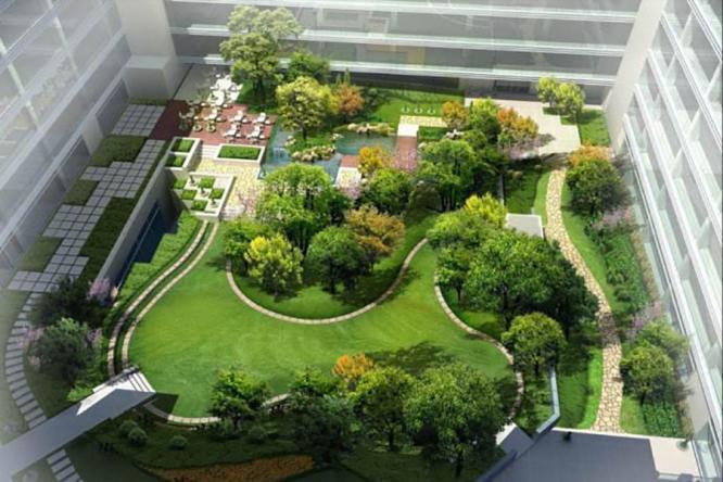 屋顶花园景观设计为城市添一抹绿