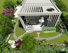 月湖山庄别墅花园设计