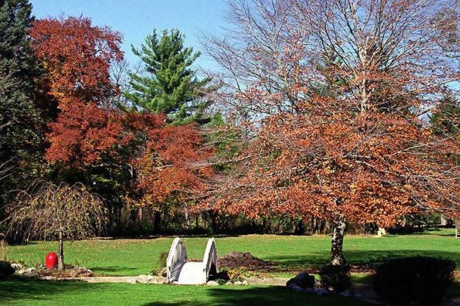 秋季别墅花园,私家庭院园林养护需要注意的事情