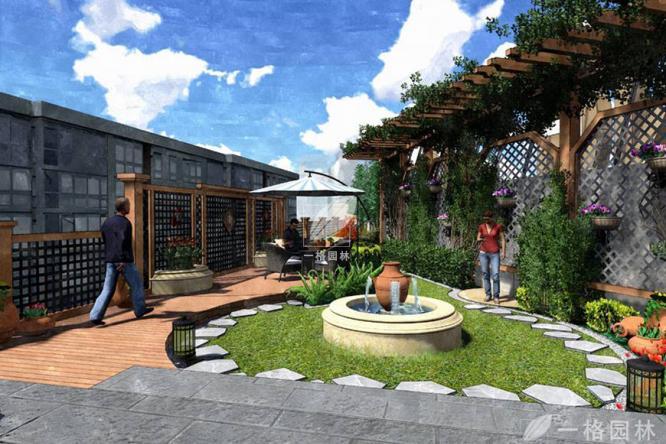 屋顶花园设计的造景设计方式