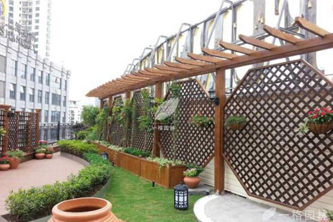 庭院设计中常见的元素之防腐木