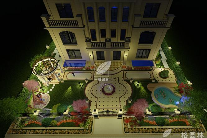 上海别墅花园景观园林之灯光设计