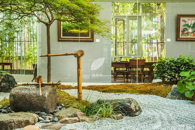 日式庭院景观特有的艺术气息