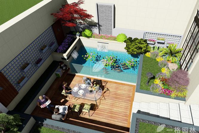 一格园林浅谈庭院设计、花园设计里植物的应用