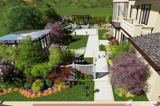 别墅花园设计及施工时需要注意的事项