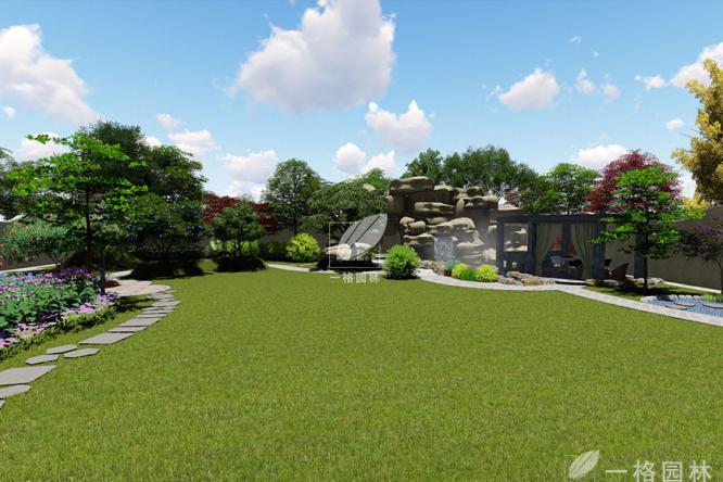 阳春三月别墅花园景观草坪养护指导