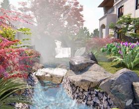 南汇自建别墅花园设计