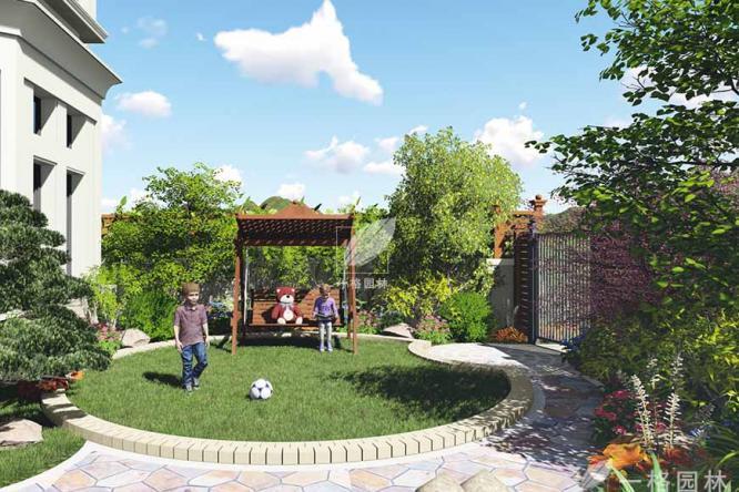 金都夏宫别墅庭院设计