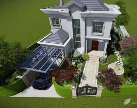 绿波别墅花园设计