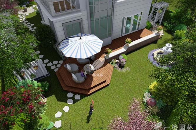 简单实用的私家庭院景观