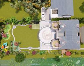 自建别墅花园景观设计