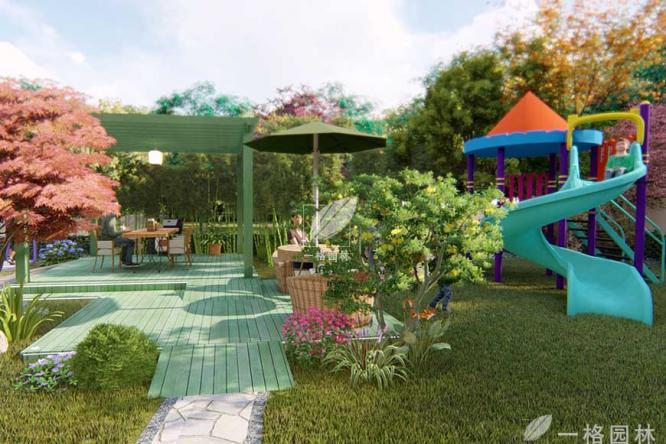 别墅花园景观秋季如期养护,可以有效减少越冬病虫害