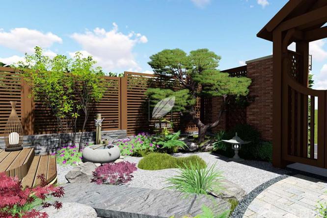 别墅花园设计水景充分利于现场园林绿化特色