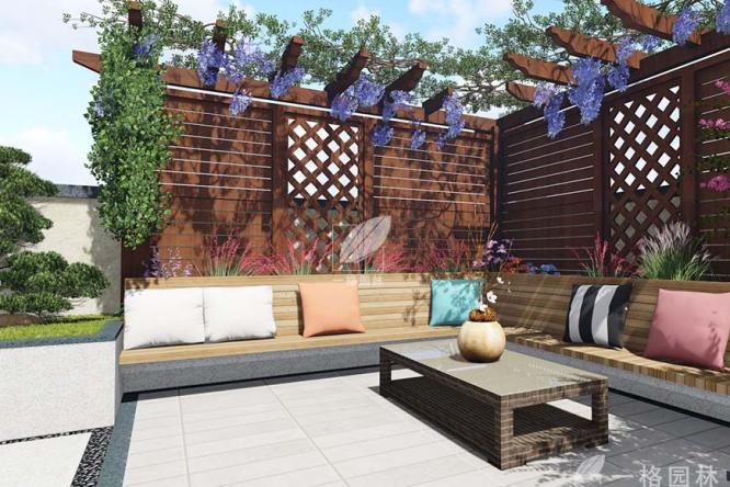 私家庭院设计中一个花架的作用