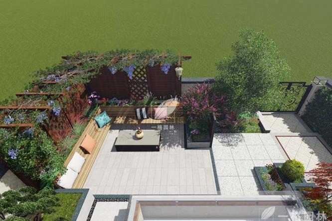 园林绿化景观之私家花园设计硬景与软景如何结合