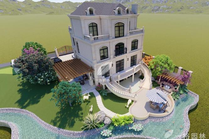 美兰金邸高端花园设计施工