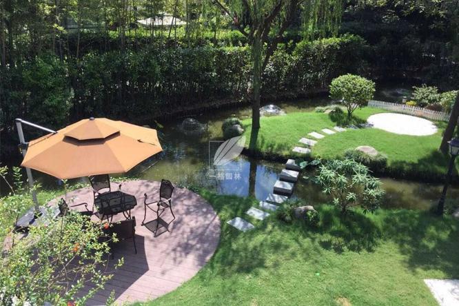 汀步让别墅花园景观彰显韵律之美