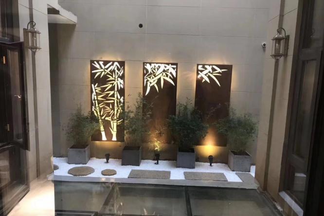 上海别墅花园景观设计施工绿化