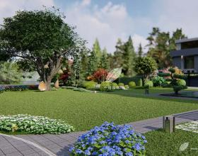 沁风雅泾轩别墅花园